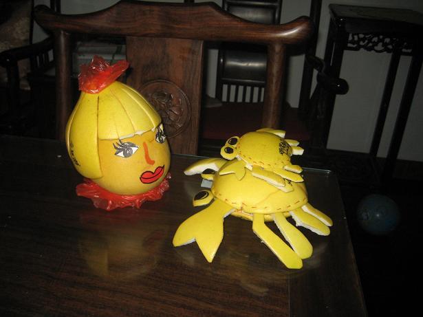柚子娃娃手工制作图片