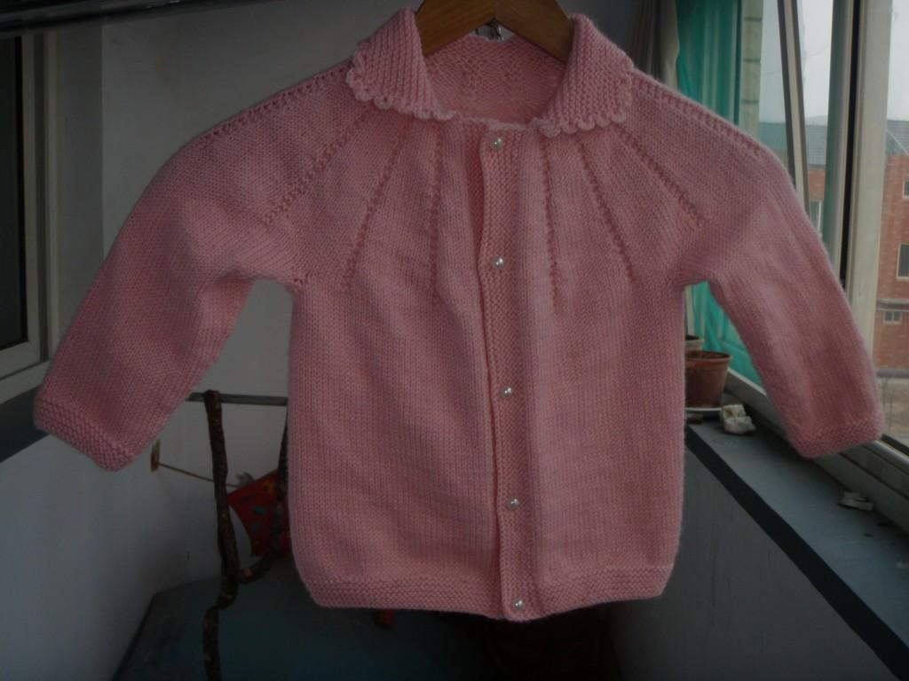 69 儿童毛衣(棒针) 69 2005-2010年归档 69 粉色女孩开衫