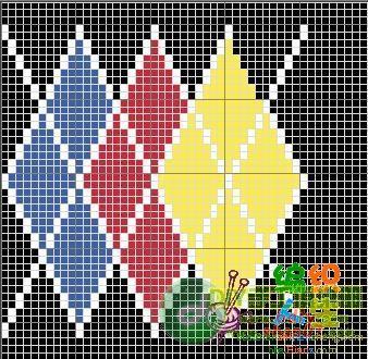 收藏的儿童毛衣编织图案图解----接着发15楼; 【转载】男孩菱形图案衣