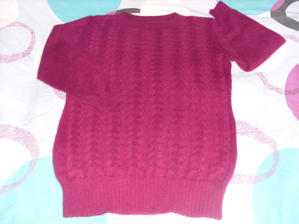 从上往下织的长款毛衣