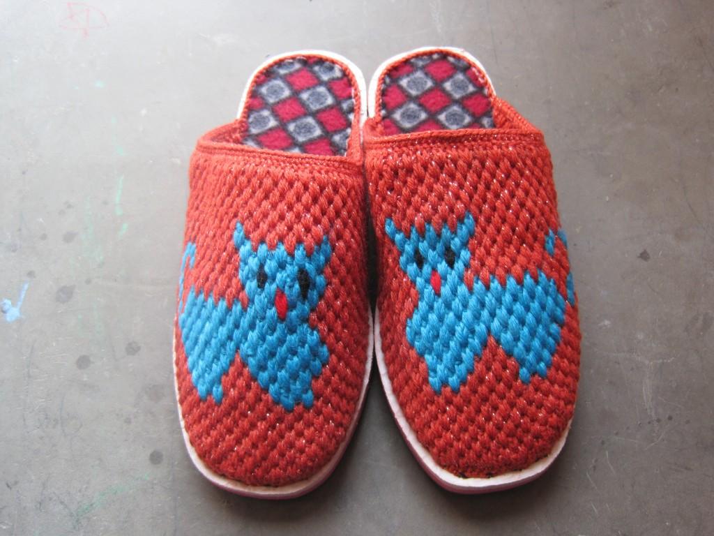 手工编织拖鞋制作方法图片