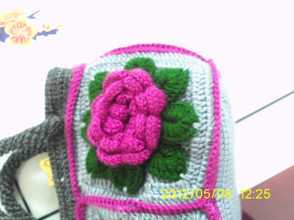 花朵包钩针高清图片