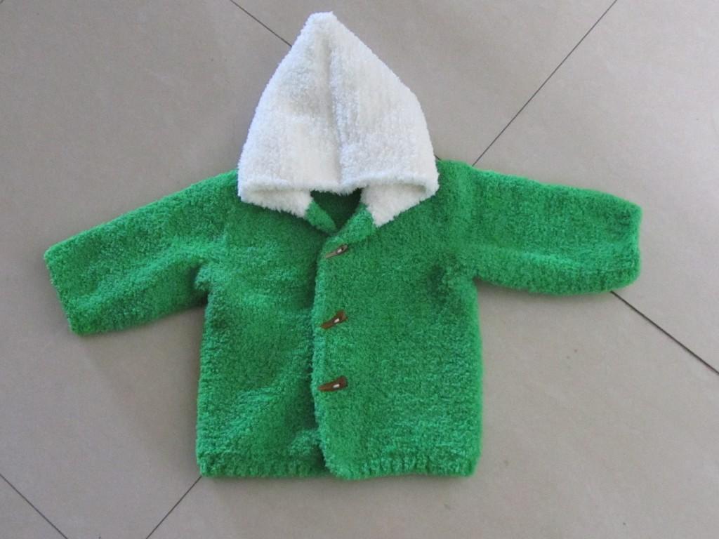 仿一件毛巾线宝宝外套 - 编织家园 - 编织人生论坛