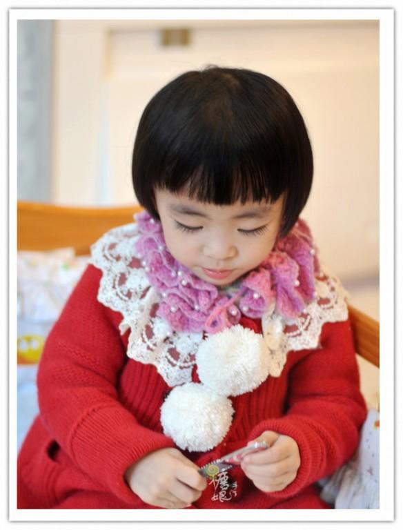 儿童钩针花样围巾