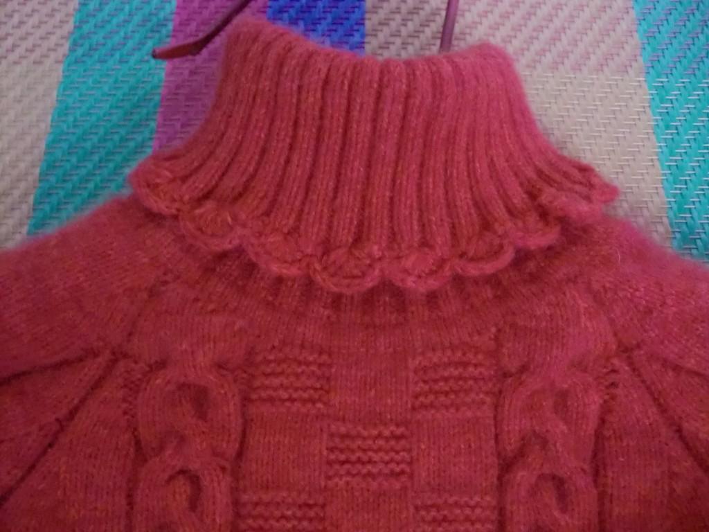开襟从上往下织的韩版毛衣,手工编织花样图案图解,女士棒针图案图解