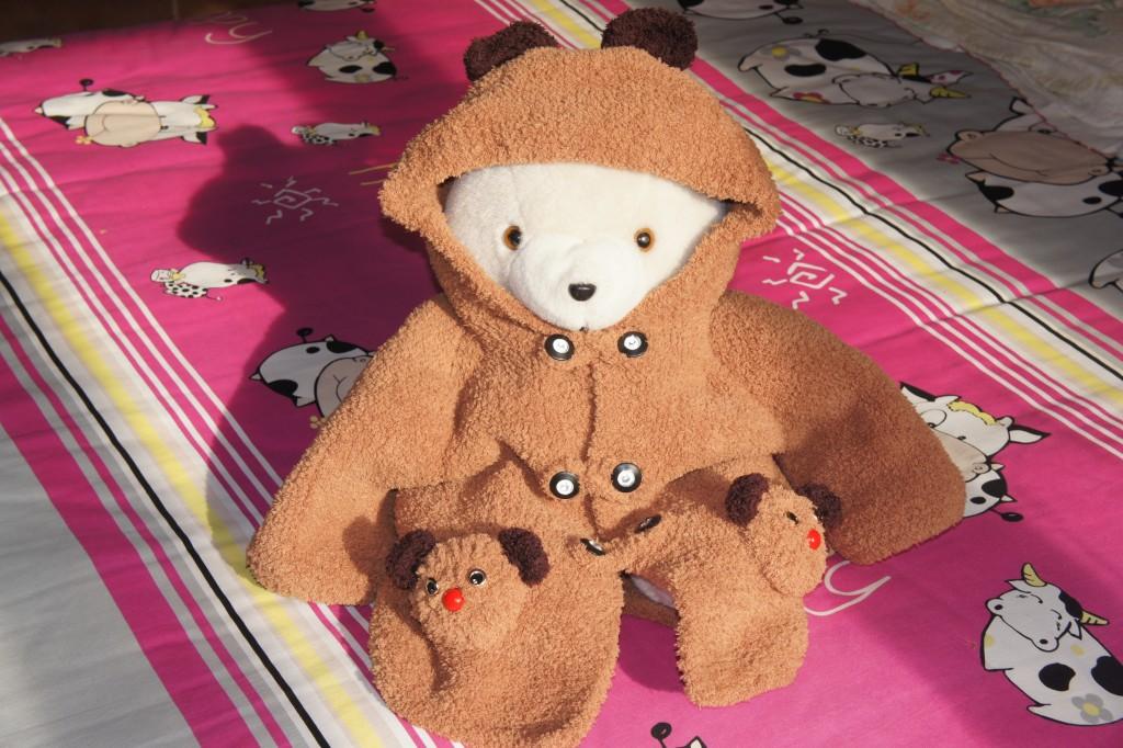 可爱的小熊毛衣(毛巾线)
