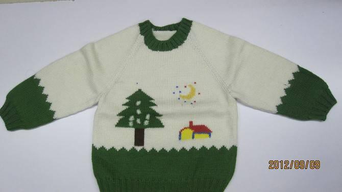 儿童刺绣-宝宝衣服绣花图案-可爱的1 3岁宝宝毛衣,纯手工编织