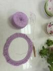 【春暖花开手作】莹莹紫——钩织简洁波浪罩衫