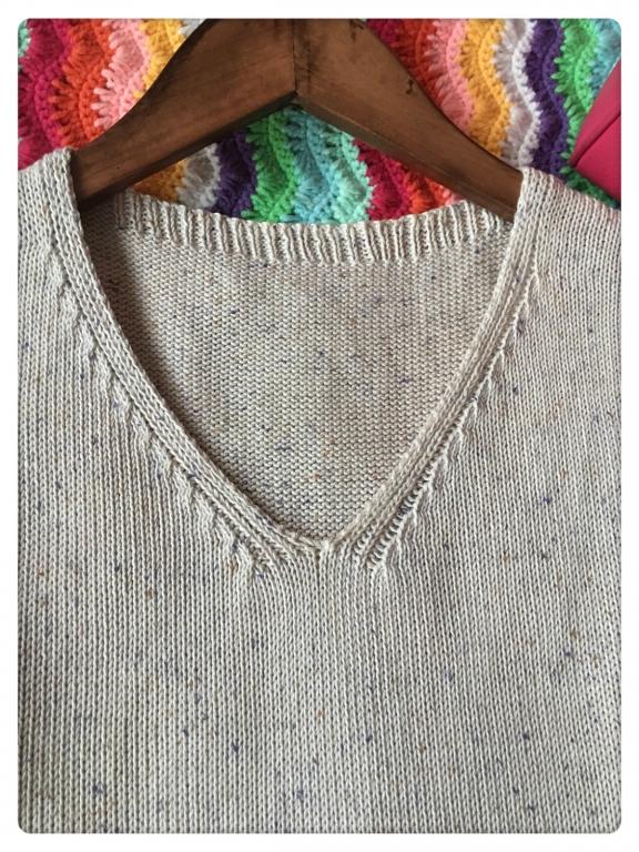 家用编织机机织V领
