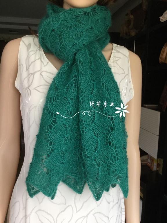 镂空花棒针围巾