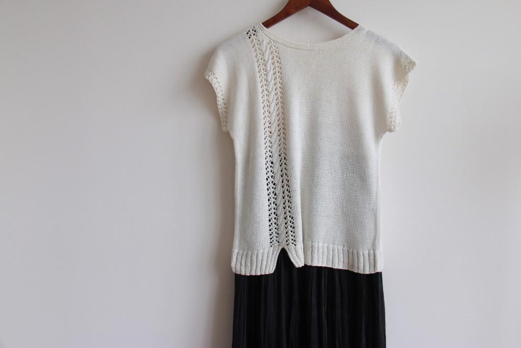 手工编织棒针短袖衫