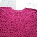 夏日紫色短袖线衣