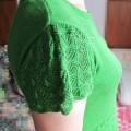 绿色短袖线衣