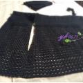静者安-云帛2黑色短袖中式长开衫