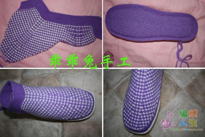 棒针编织作品秀 69 2005年-2010年归档 69 不厌其仿之---棉鞋