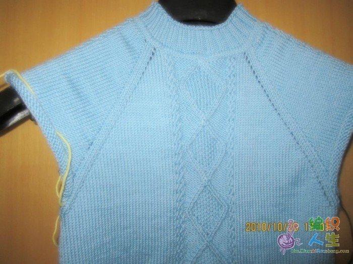 男童 毛衣 从上往下织