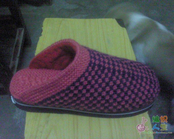 主要织鞋子用 的图解12月24号加了拖鞋织法, (700x560); 棒针棉鞋(11