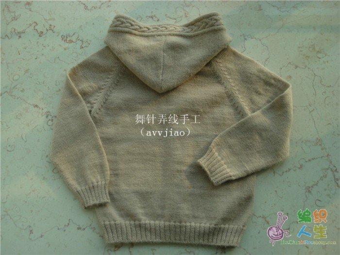 服饰编织交流 69 儿童毛衣(棒针) 69 连帽外套和海绵宝宝(上图解)