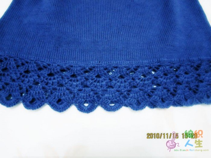 仿钩织的短袖,第一件学钩的衣服(图解来了)