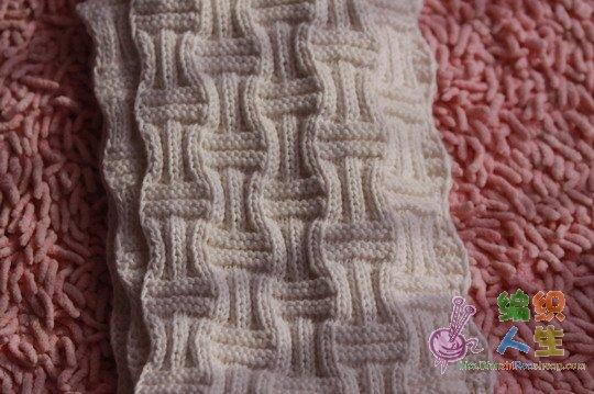 刚织好的男士围巾,有图解