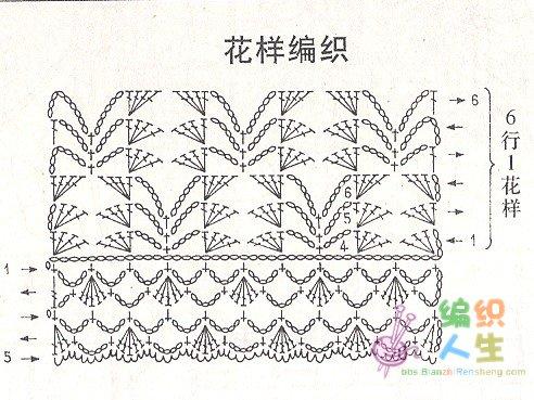 秋天镂空花长袖衣的编织图解