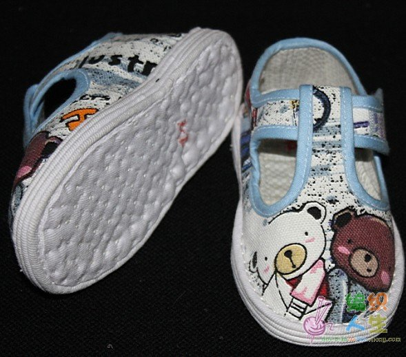 婴儿软底鞋纸样及做法