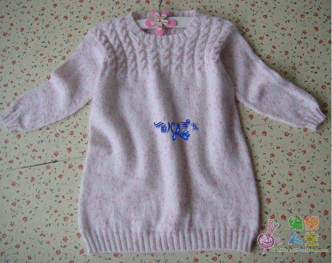 毛衣 粉红/这还是第一团。。织啊织啊咋还没完呢