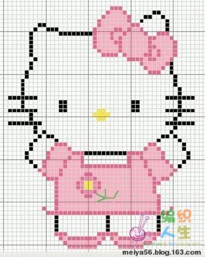 我的编织图收藏---凯蒂猫系列之二