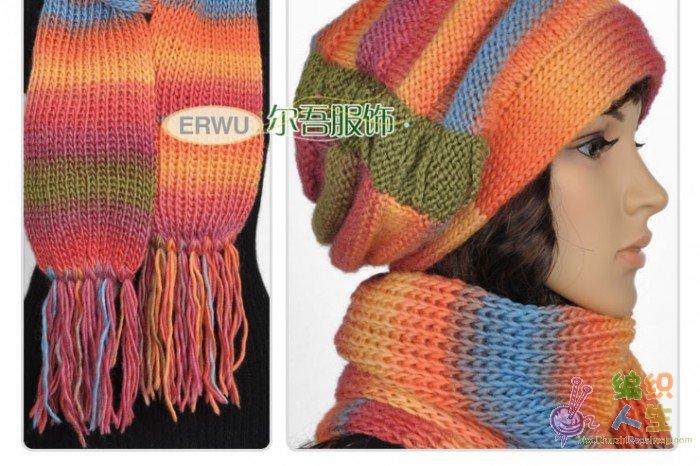 求大家帮个忙 分析这个帽子和围巾的织法 2005年 2013年归档