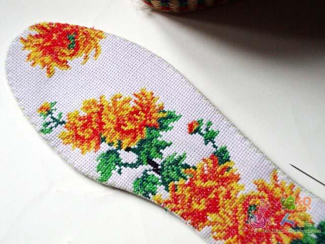 鞋垫花样图纸 十字绣鞋垫花样图纸心 十字绣鞋垫