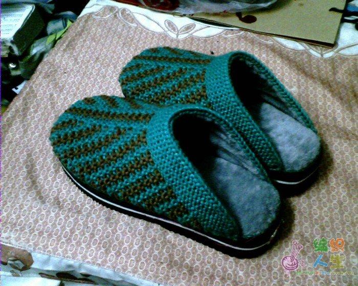 6种双色花样(主要织鞋子用)的图解12月24号加了拖鞋织法,第3页53楼
