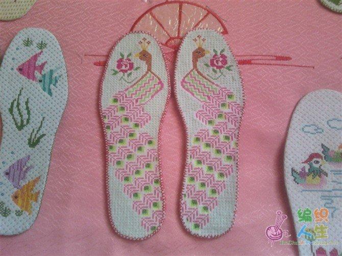 十字绣鞋垫图纸花样_鞋垫手工十字绣图纸_鞋垫图纸