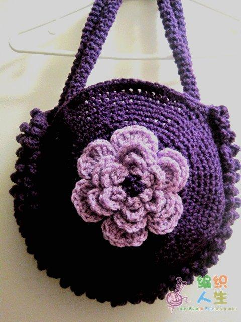 织姐--几款漂亮的圆形钩织包包(有图解)