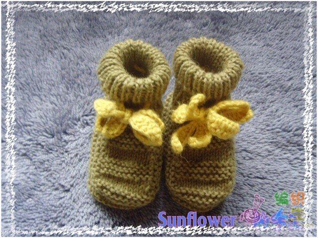 用剩余的线教你织宝宝鞋