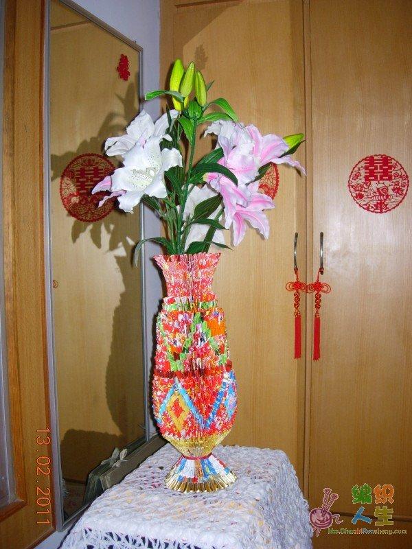 三角折纸花瓶,2011年10月上新花瓶了