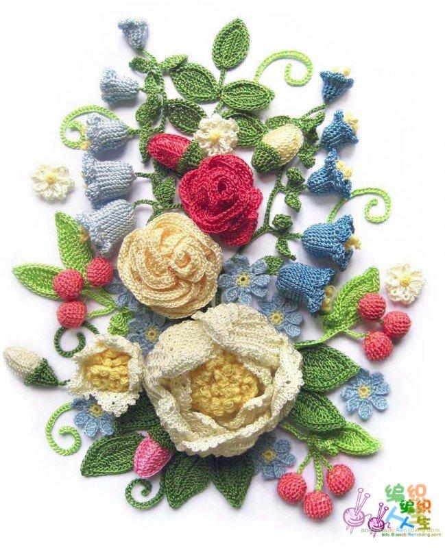 漂亮的花朵寻图解_编织人生论坛