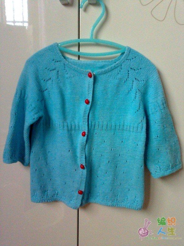可爱的儿童毛衣和蝴蝶围巾(附图解),摆脱菜鸟称号了!