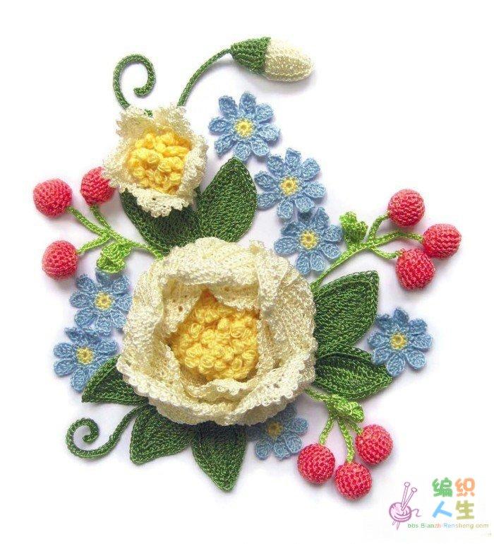 钩针花朵样式及图解