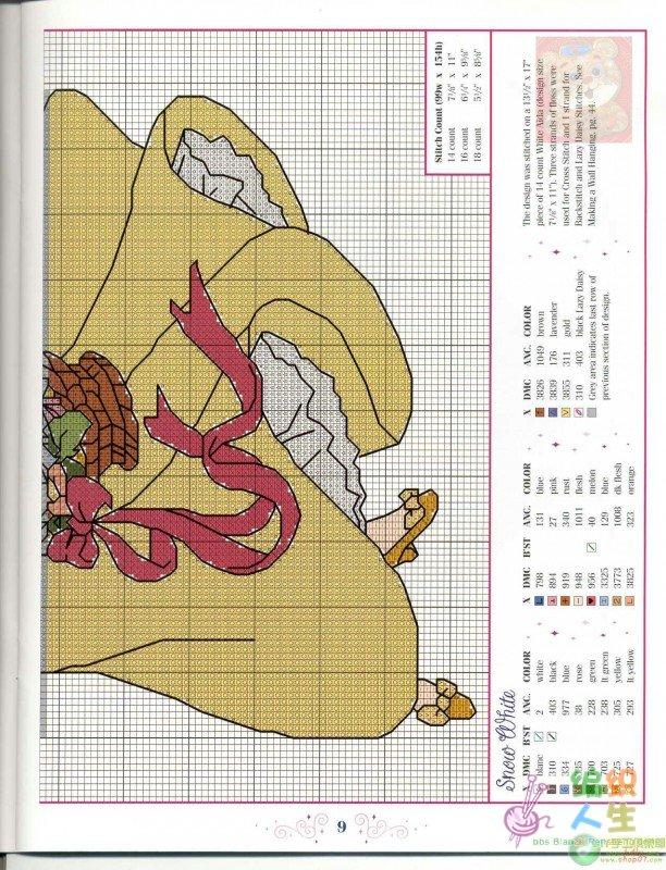 白雪公主 十字绣图 (图纸超大,超清晰)_十字绣图案
