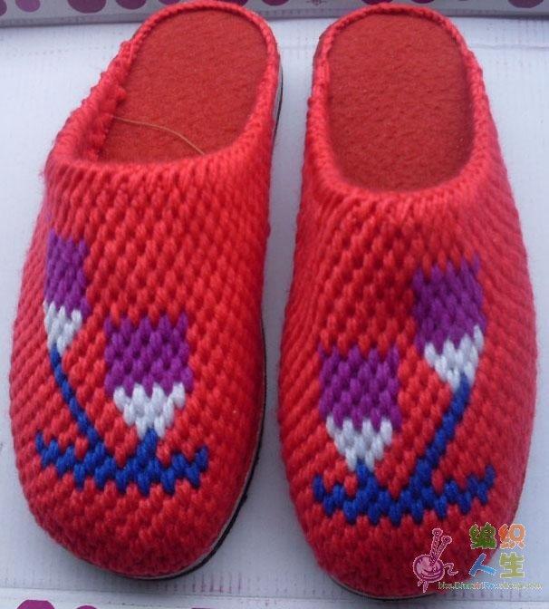 我收藏的毛线拖鞋花样图片