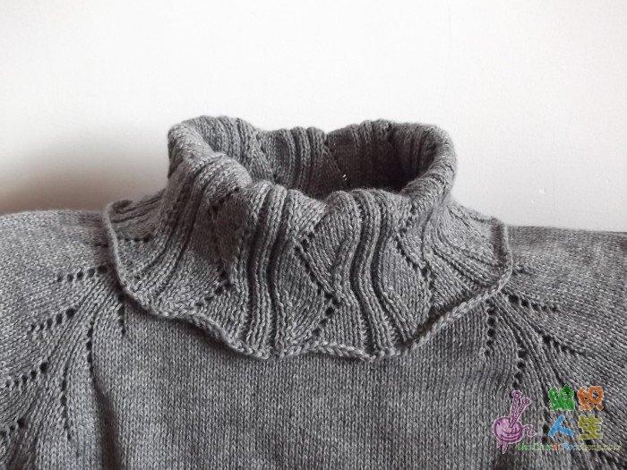 原创灰色中长毛衣