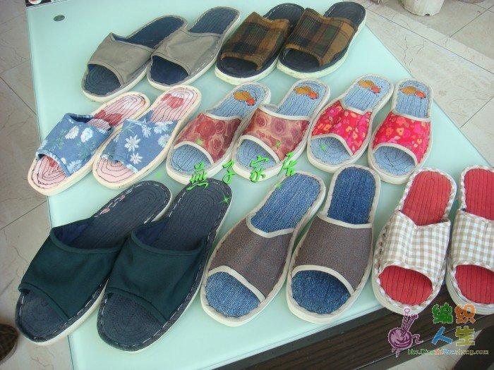 纯手工布拖鞋,妈妈亲手缝制的,一双只要18元