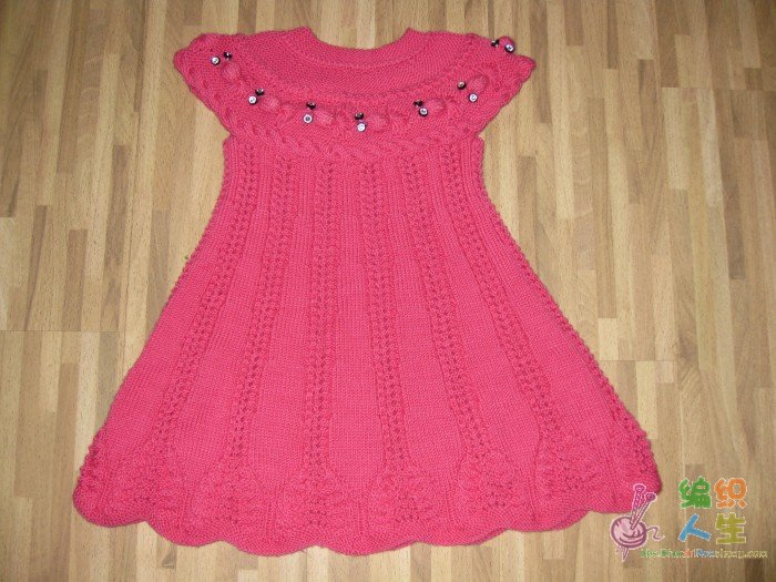 论坛 69 儿童服饰编织交流 69 儿童毛衣(棒针) 69 女儿的金鱼裙