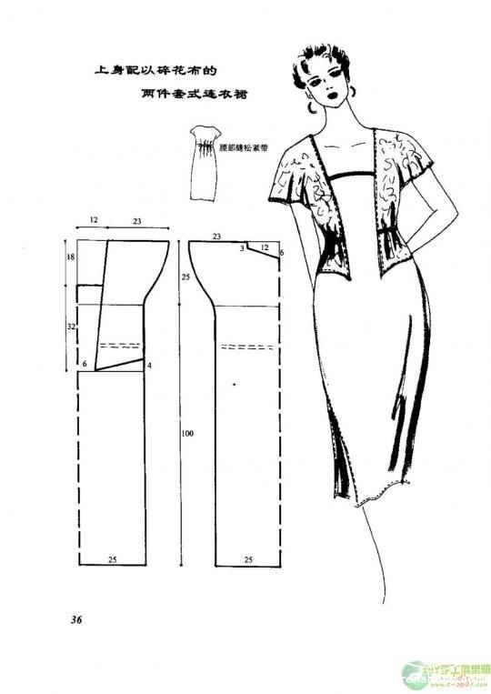 Выкройка простого платья и как сшить