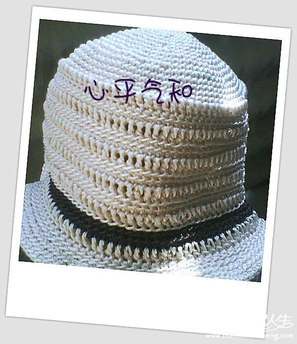 遮阳帽_披肩围巾帽子(钩针)_编织人生论坛