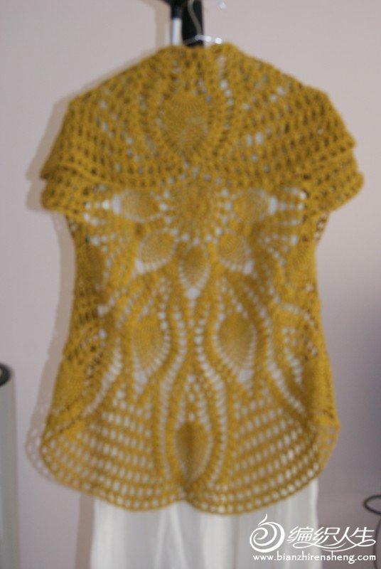 菠萝桌布衣背面
