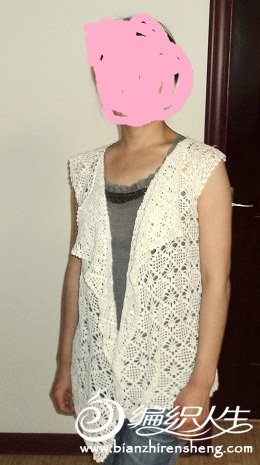 白色长开衫3