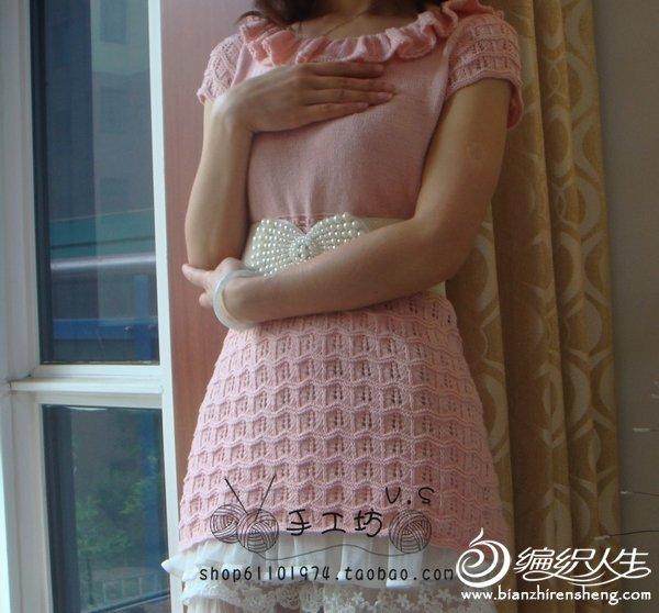 配上装饰腰带很公主的感觉吧