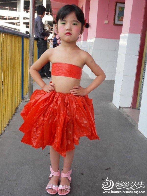 塑料袋做的裙