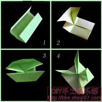 折纸花篮步骤 解